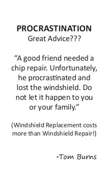 Windshield Replacement costs more than Windshield Repair
